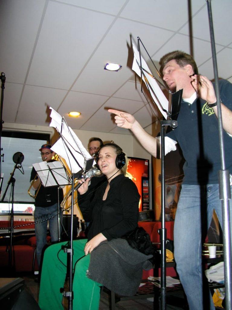 Cees met Anouk bij optreden show Rob Stenders